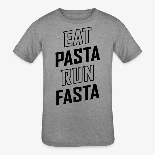 Eat Pasta Run Fasta v2 - Kids' Tri-Blend T-Shirt