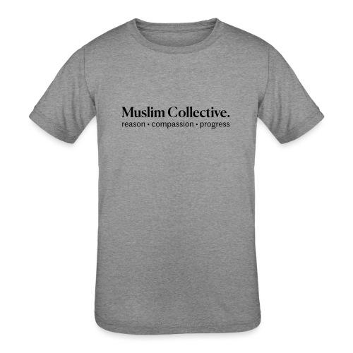 Muslim Collective Logo + tagline - Kids' Tri-Blend T-Shirt
