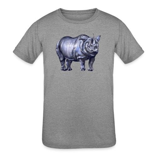 One horned rhino - Kids' Tri-Blend T-Shirt