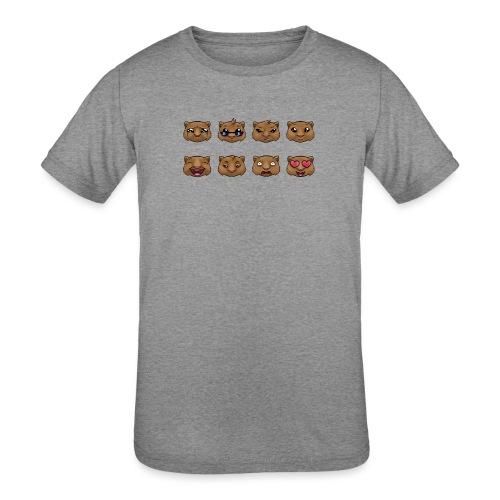 Wombat Feelings - Kids' Tri-Blend T-Shirt