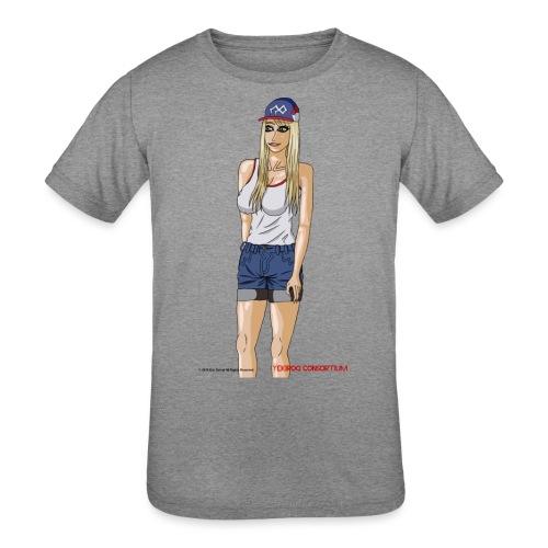 Gina Character Design - Kids' Tri-Blend T-Shirt
