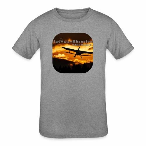 "InovativObsesion ""TAKE FLIGHT"" apparel - Kids' Tri-Blend T-Shirt"