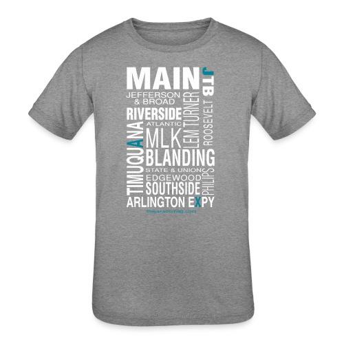 Jacksonville Streets - Kids' Tri-Blend T-Shirt