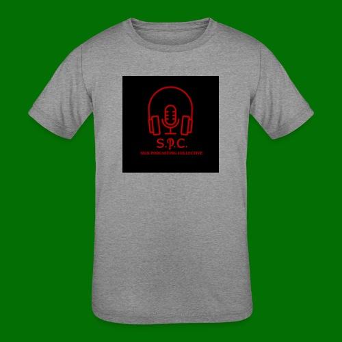SPC Logo Black/Red - Kids' Tri-Blend T-Shirt