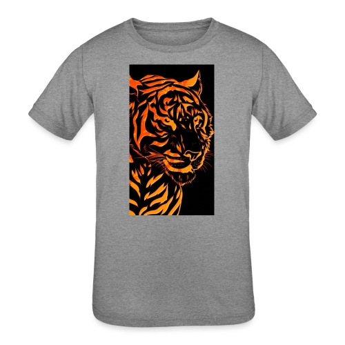 Fire tiger - Kids' Tri-Blend T-Shirt