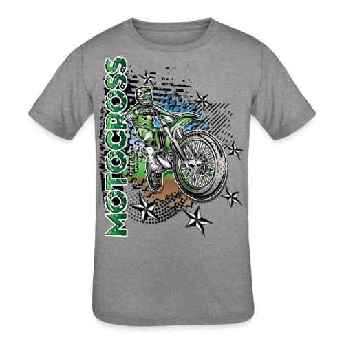 Kawasaki Dirt Bike Shirt - Kids' Tri-Blend T-Shirt