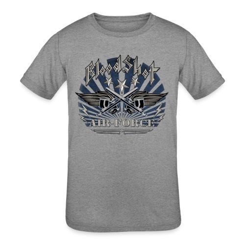 BloodShot Air Force with black - Kids' Tri-Blend T-Shirt