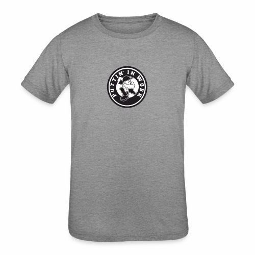 Solid Puttin' In Work Logo - Kids' Tri-Blend T-Shirt