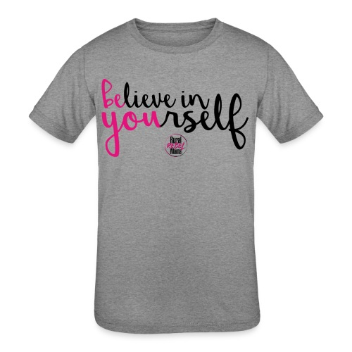 BE YOU shirt design w logo - Kids' Tri-Blend T-Shirt