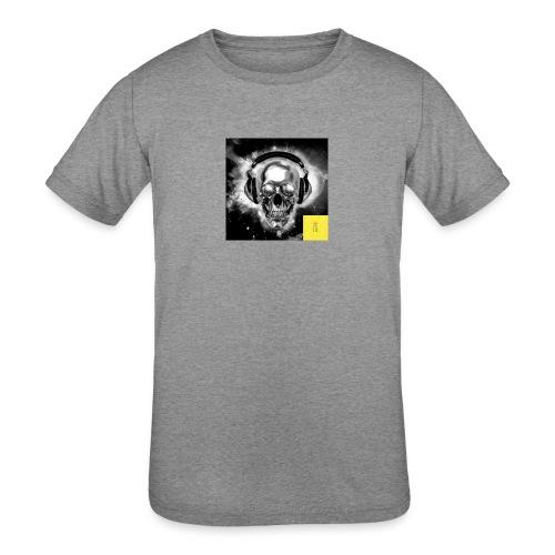 skull - Kids' Tri-Blend T-Shirt