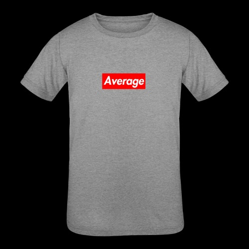 Average Supreme Logo Mockup - Kids' Tri-Blend T-Shirt