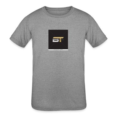 BT logo golden - Kids' Tri-Blend T-Shirt