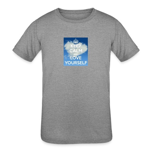 Keep calm and love yourself - Kids' Tri-Blend T-Shirt