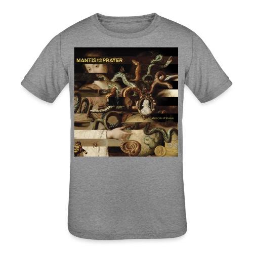 Mantis and the Prayer- Butterflies and Demons - Kids' Tri-Blend T-Shirt
