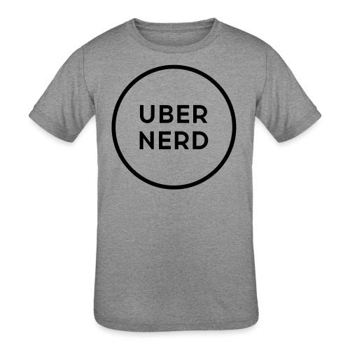 uber nerd logo - Kids' Tri-Blend T-Shirt
