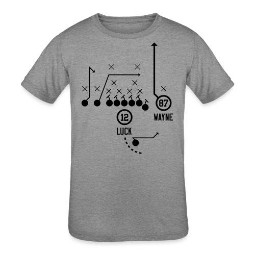 X O Andrew Luck to Reggie Wayne - Kids' Tri-Blend T-Shirt