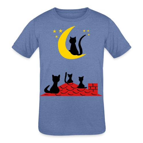 Cats on the roof - Kids' Tri-Blend T-Shirt