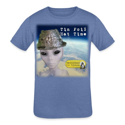 Tin Foil Hat Time (Earth) - Kids' Tri-Blend T-Shirt