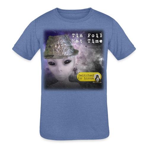 Tin Foil Hat Time (Space) - Kids' Tri-Blend T-Shirt