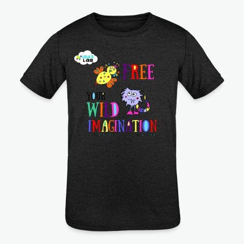 LOLAS LAB FREE YOUR WILD IMAGINATION TEE - Kids' Tri-Blend T-Shirt