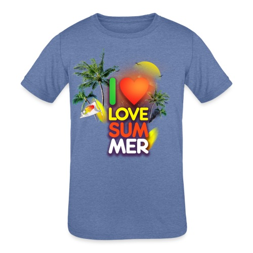 I love summer - Kids' Tri-Blend T-Shirt
