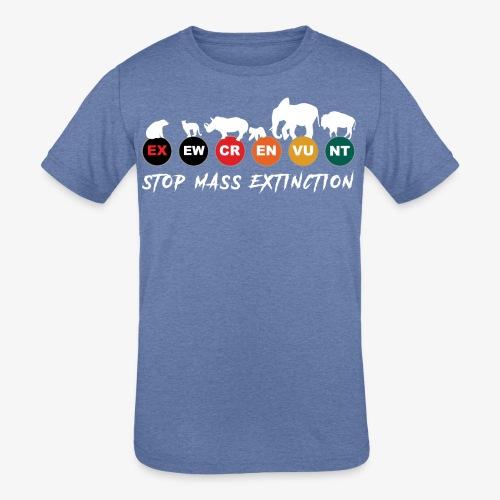 Stop mass extinction ! - Kids' Tri-Blend T-Shirt