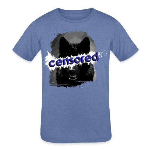 Wolf censored - Kids' Tri-Blend T-Shirt