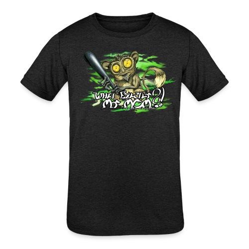 What exactly my mom?! - Kids' Tri-Blend T-Shirt
