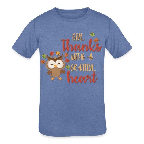 Give Thanks - Kids' Tri-Blend T-Shirt