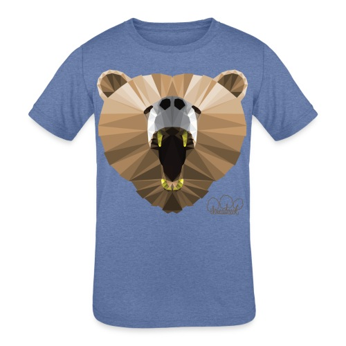 Hungry Bear Women's V-Neck T-Shirt - Kids' Tri-Blend T-Shirt