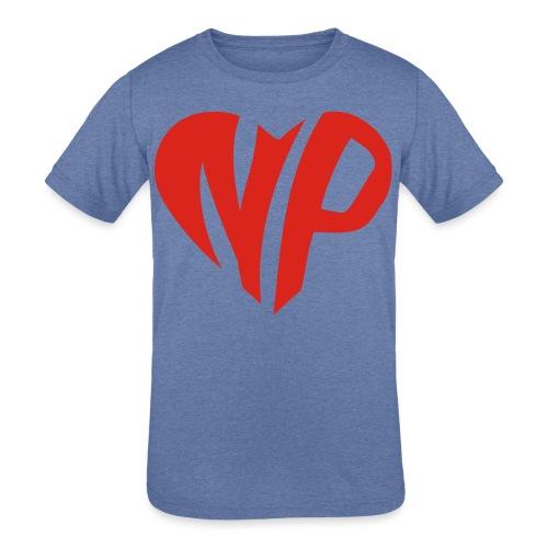 np heart - Kids' Tri-Blend T-Shirt