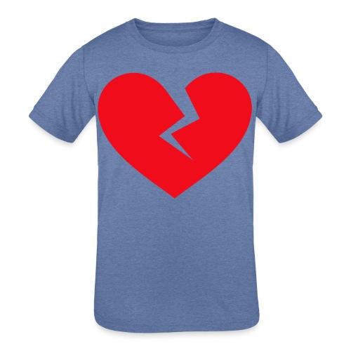Broken Heart - Kids' Tri-Blend T-Shirt