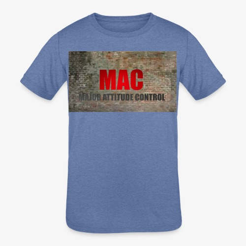 MAC LOGO - Kids' Tri-Blend T-Shirt
