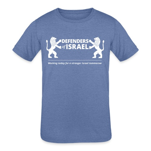 Defenders Of Israel White - Kids' Tri-Blend T-Shirt