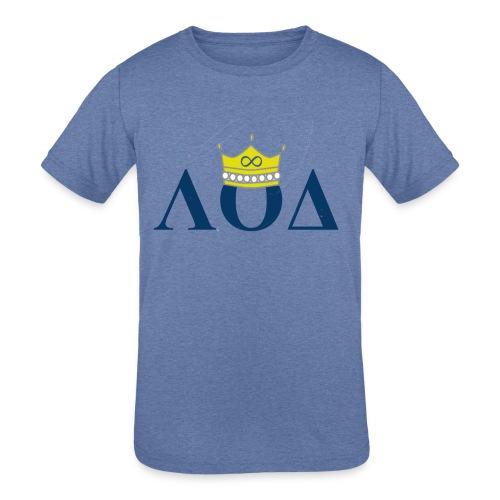 Crown Letters - Kids' Tri-Blend T-Shirt