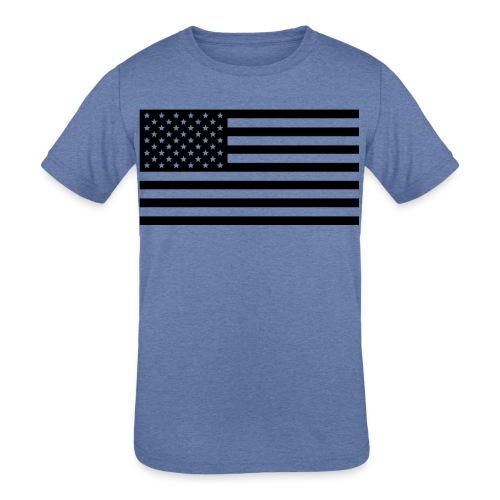 American Flag - Kids' Tri-Blend T-Shirt