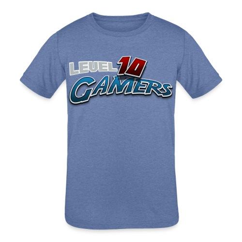 Level10Gamers Logo - Kids' Tri-Blend T-Shirt