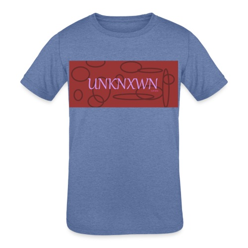 RED PINK UNKNXWN - Kids' Tri-Blend T-Shirt