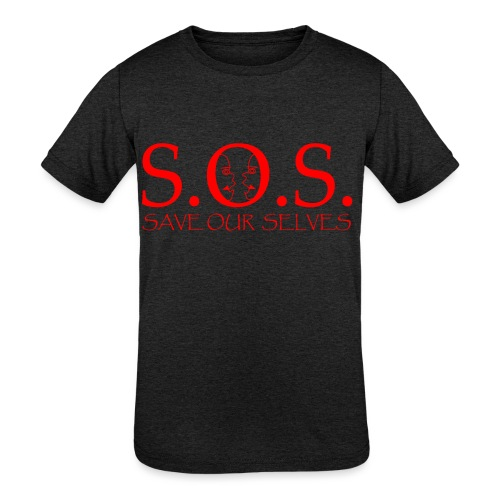 sos red - Kids' Tri-Blend T-Shirt