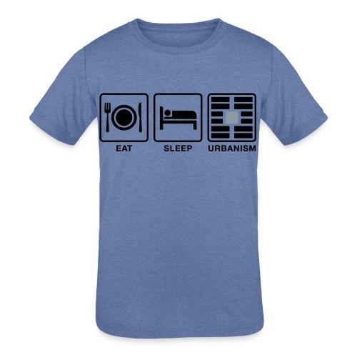 Eat Sleep Urb big fork-LG - Kids' Tri-Blend T-Shirt