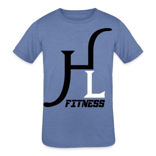 HIIT Life Fitness logo white - Kids' Tri-Blend T-Shirt