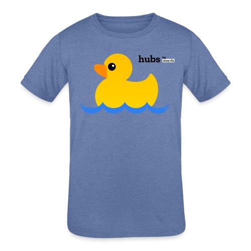 Hubs Duck - Wordmark and Water - Kids' Tri-Blend T-Shirt