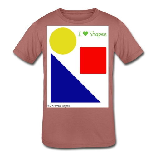 Hi I'm Ronald Seegers Collection-I Love Shapes - Kids' Tri-Blend T-Shirt