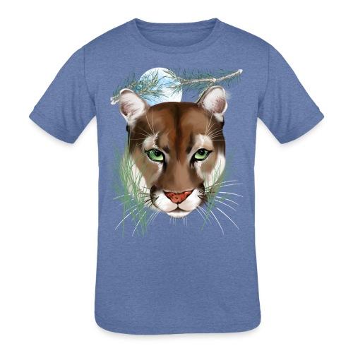 Midnight Puma - Kids' Tri-Blend T-Shirt