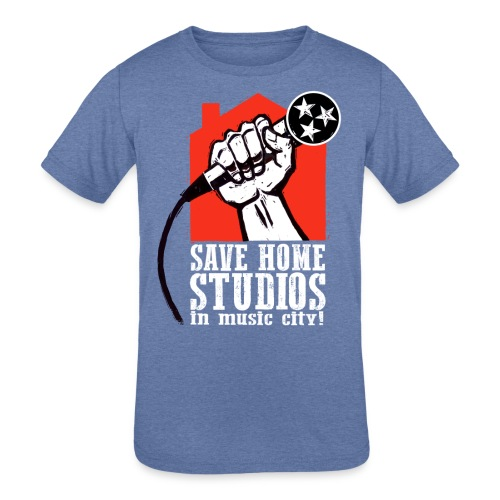 Save Home Studios In Music City - Kid's Tri-Blend T-Shirt