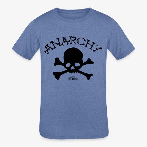 Anar Skull black - Kids' Tri-Blend T-Shirt