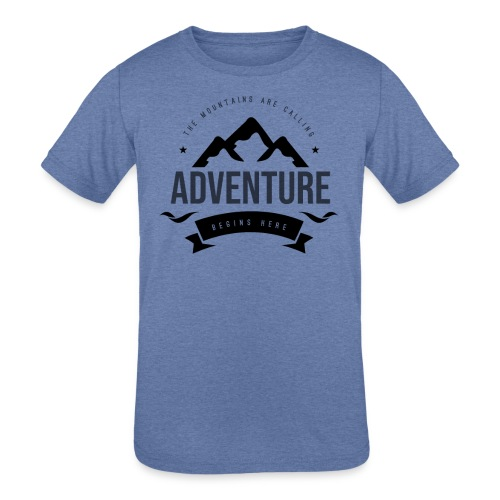 The mountains are calling T-shirt - Kids' Tri-Blend T-Shirt