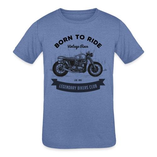 Born to ride Vintage Race T-shirt - Kids' Tri-Blend T-Shirt