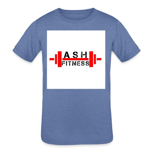 ASH FITNESS MUSCLE ACCESSORIES - Kids' Tri-Blend T-Shirt