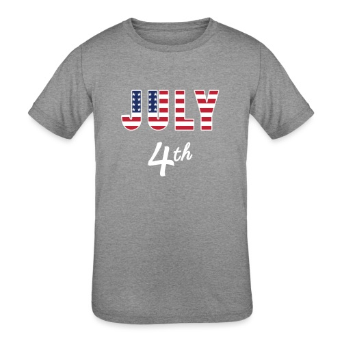 July 4th - Kids' Tri-Blend T-Shirt